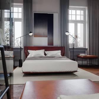 20万以上140平米四工业风风格卧室装修效果图