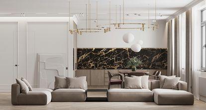 20万以上120平米四室两厅现代简约风格客厅图片