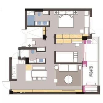 80平米三室两厅北欧风格阳台欣赏图