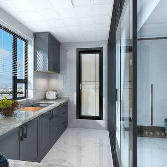 80平米公寓轻奢风格厨房欣赏图
