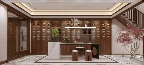 20万以上140平米中式风格书房设计图