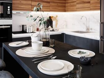 经济型50平米一居室现代简约风格餐厅效果图