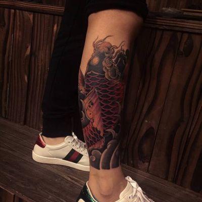 鲤鱼覆盖纹身款式图