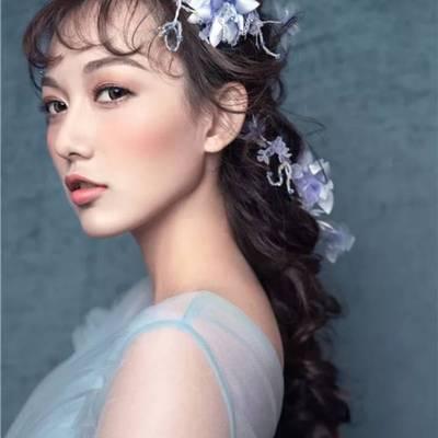 抽丝新娘妆美甲款式图
