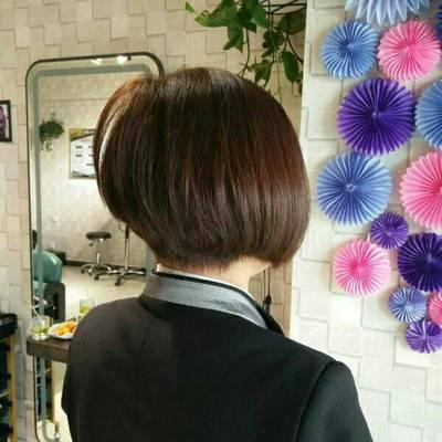 短发烫染作品图