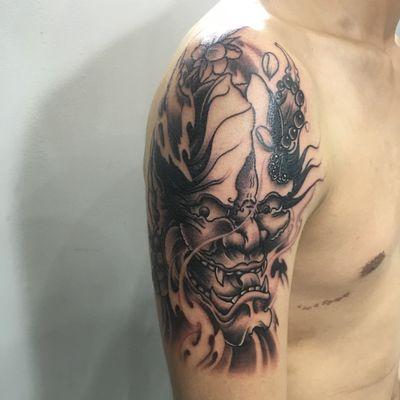 大臂般若纹身图