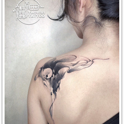 水墨设计纹身款式图