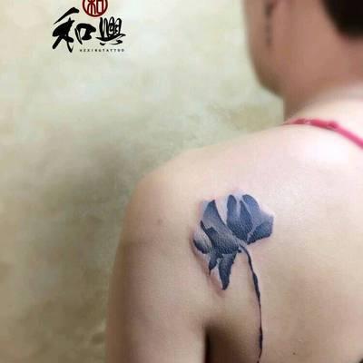 水墨纹身图