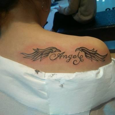 翅膀1纹身款式图