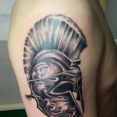 罗马头盔纹身款式图