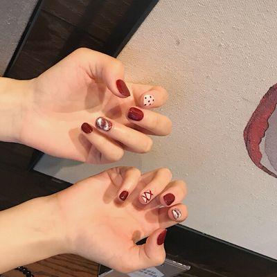 红色芭蕾鞋美甲图