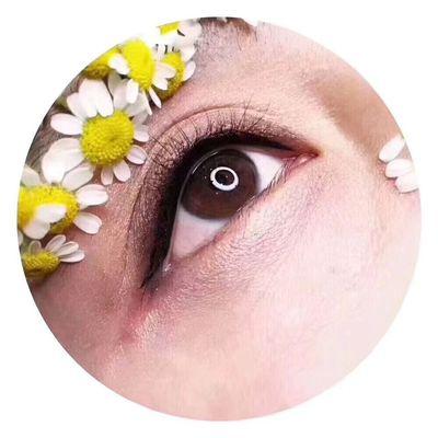 韩式美瞳线美甲图