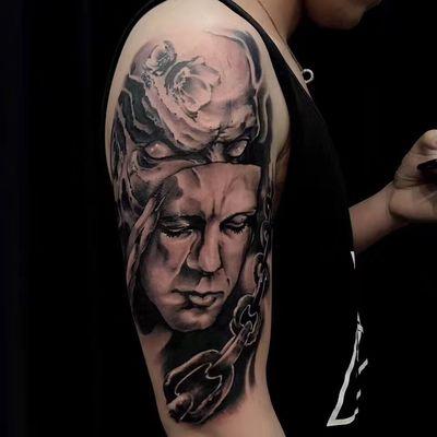 魔鬼&面具纹身图