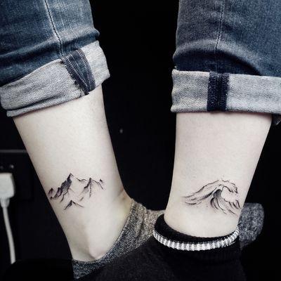 情侣图纹身款式图