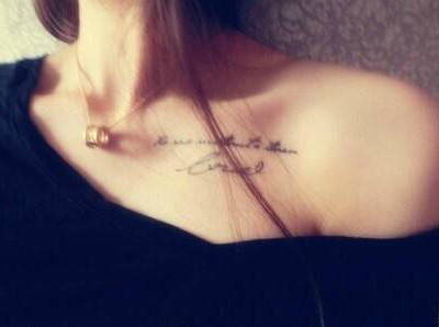 锁骨纹身款式图