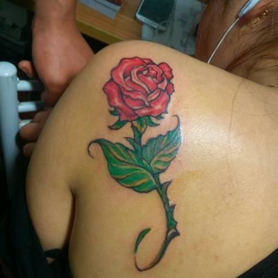 玫瑰纹身款式图