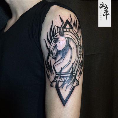 KID马纹身图