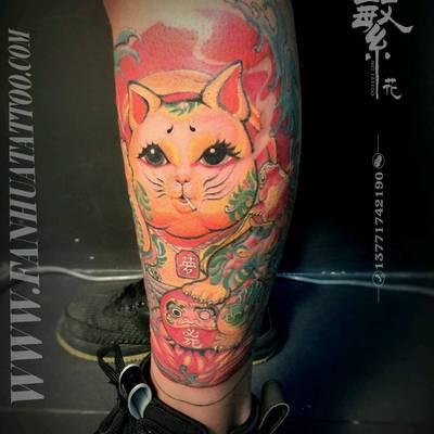 传统彩色纹身款式图
