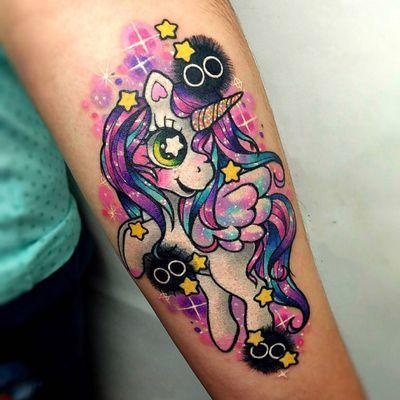 彩色卡通纹身款式图