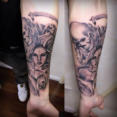 欧美黑灰纹身图