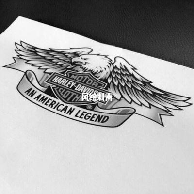 哈雷鹰纹身图