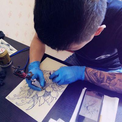 线条练习纹身图