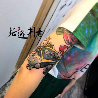 马里奥纹身款式图