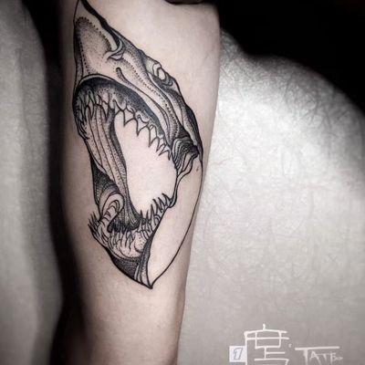 鲨鱼纹身图