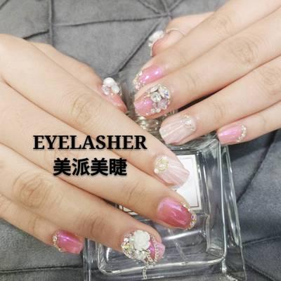 指尖樱美甲款式图