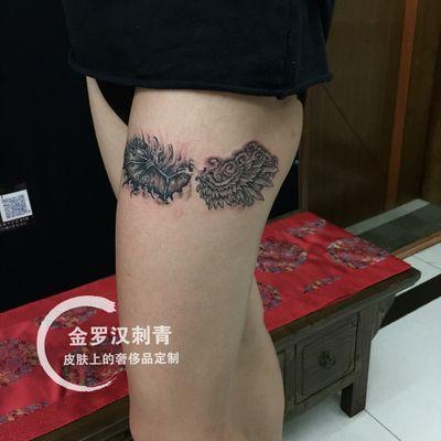 恶魔天使纹身款式图
