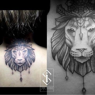 狮子纹身款式图