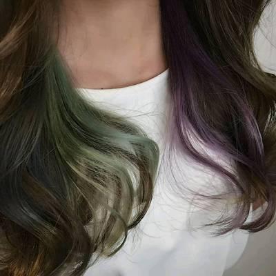 接发色彩作品图