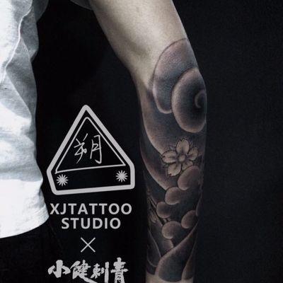 猫妖包小臂纹身款式图