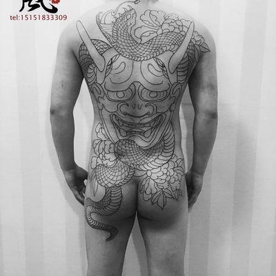 满背作品纹身款式图
