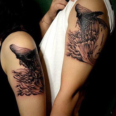 情侣鲸鱼纹身款式图