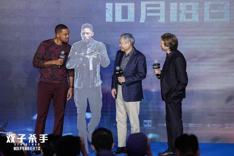 《雙子殺手》中國發布會,李安打造最貴男演員,威爾史密斯玩嗨