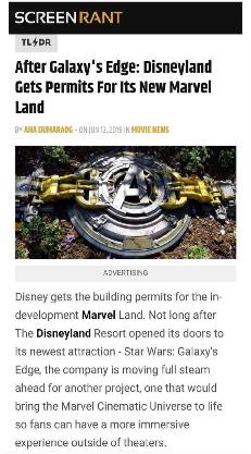 迪士尼将迎来漫威主题乐园,疑将建在洛杉矶加