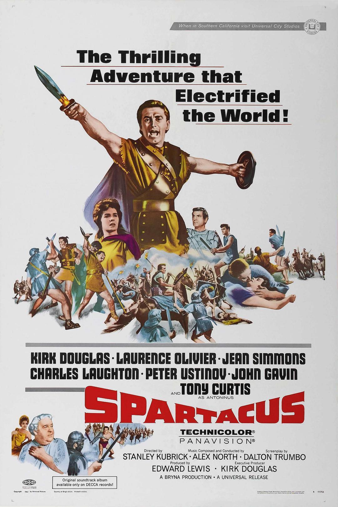 1960年美国动作片《斯巴达克斯》4K.国英双语双字