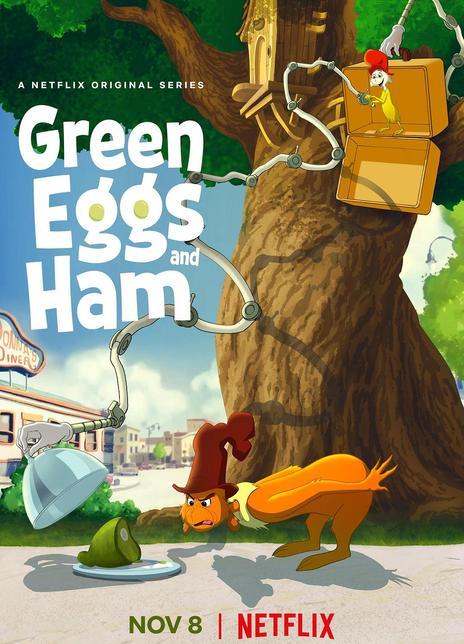 绿鸡蛋和绿火腿海报封面