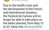 确定了!今年五月没有戛纳电影节,延期或停办暂时未知