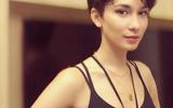 卢靖姗穿黑色吊带性感撩人,短发新造型略显老,却意外撞脸韩庚?