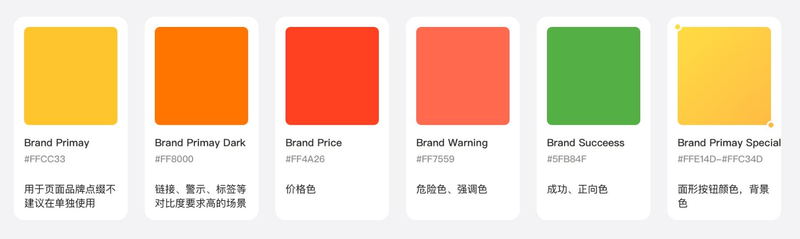 定义颜色使用场景