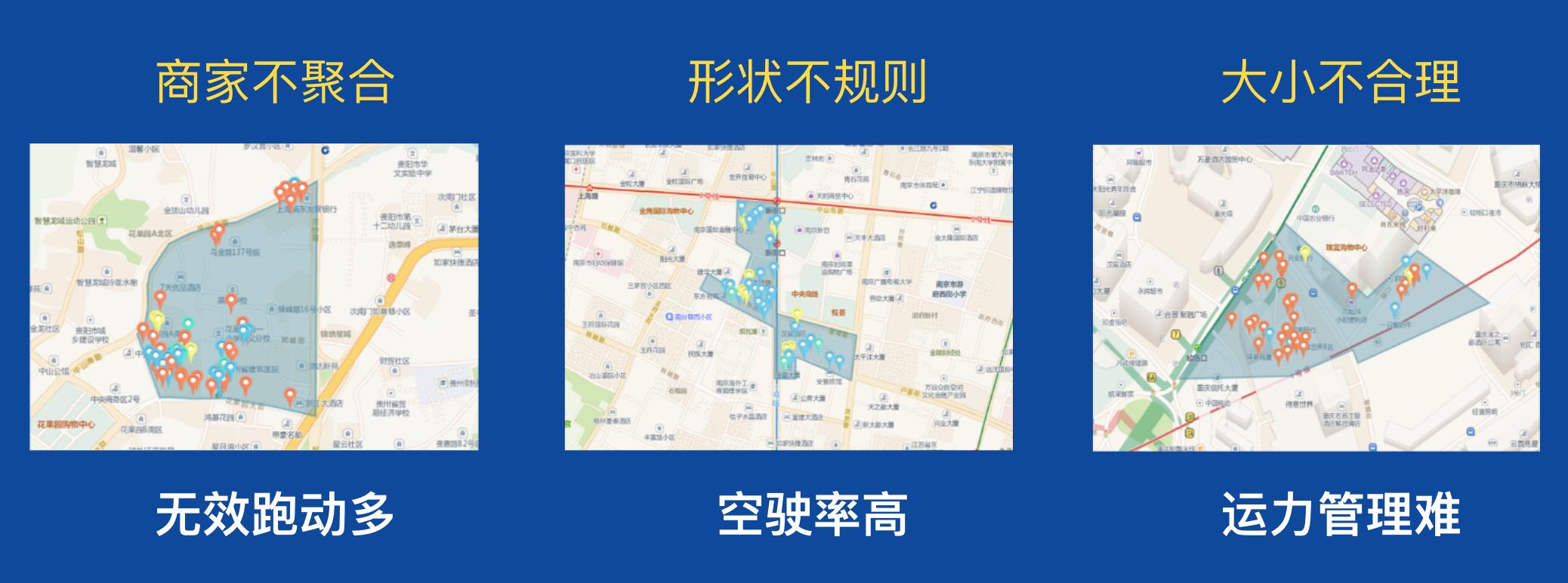 区域规划影响配送效率