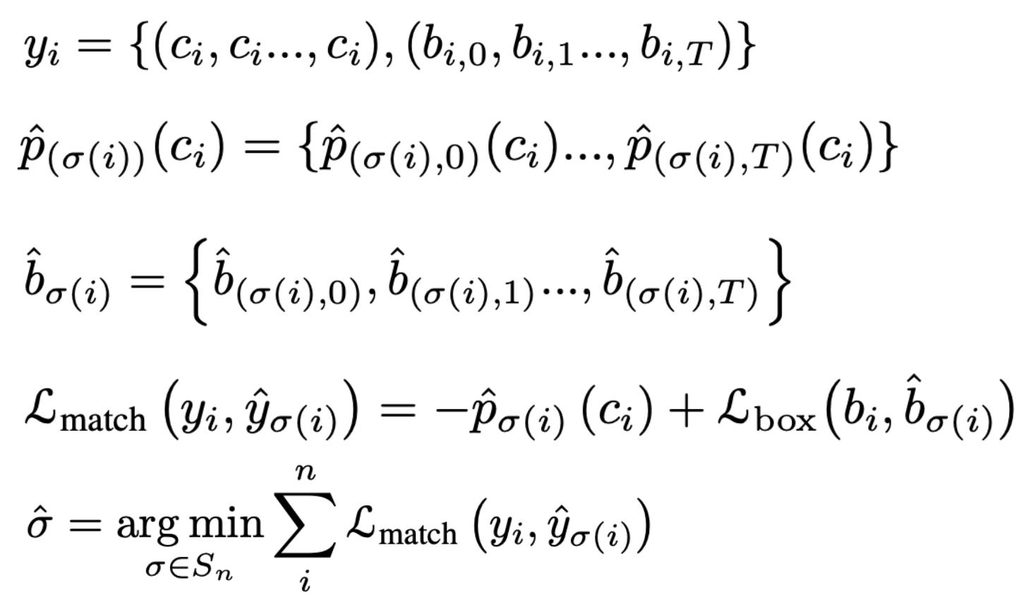 公式1 Instance Sequence Matching计算过程