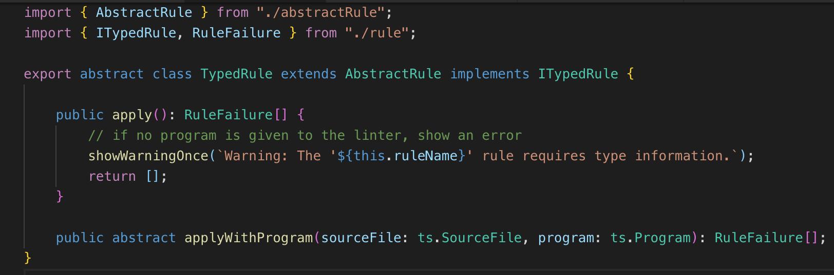 TSLint规则示例