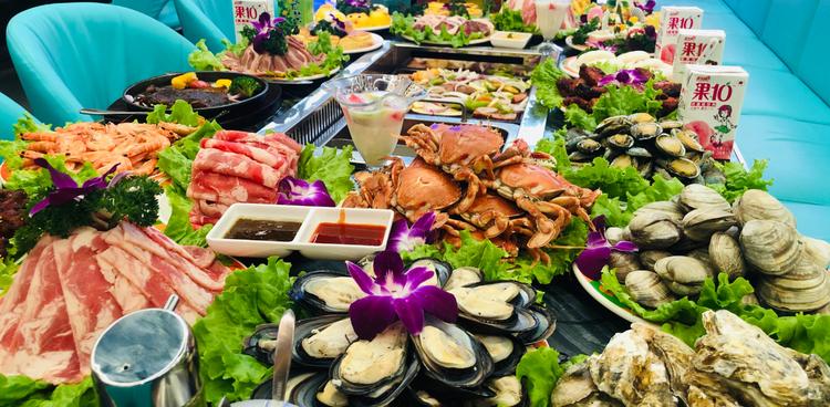 盛运自助涮烤丨汉神店丨单人自助丨节假日通用丨海鲜、烤肉吃到扶墙