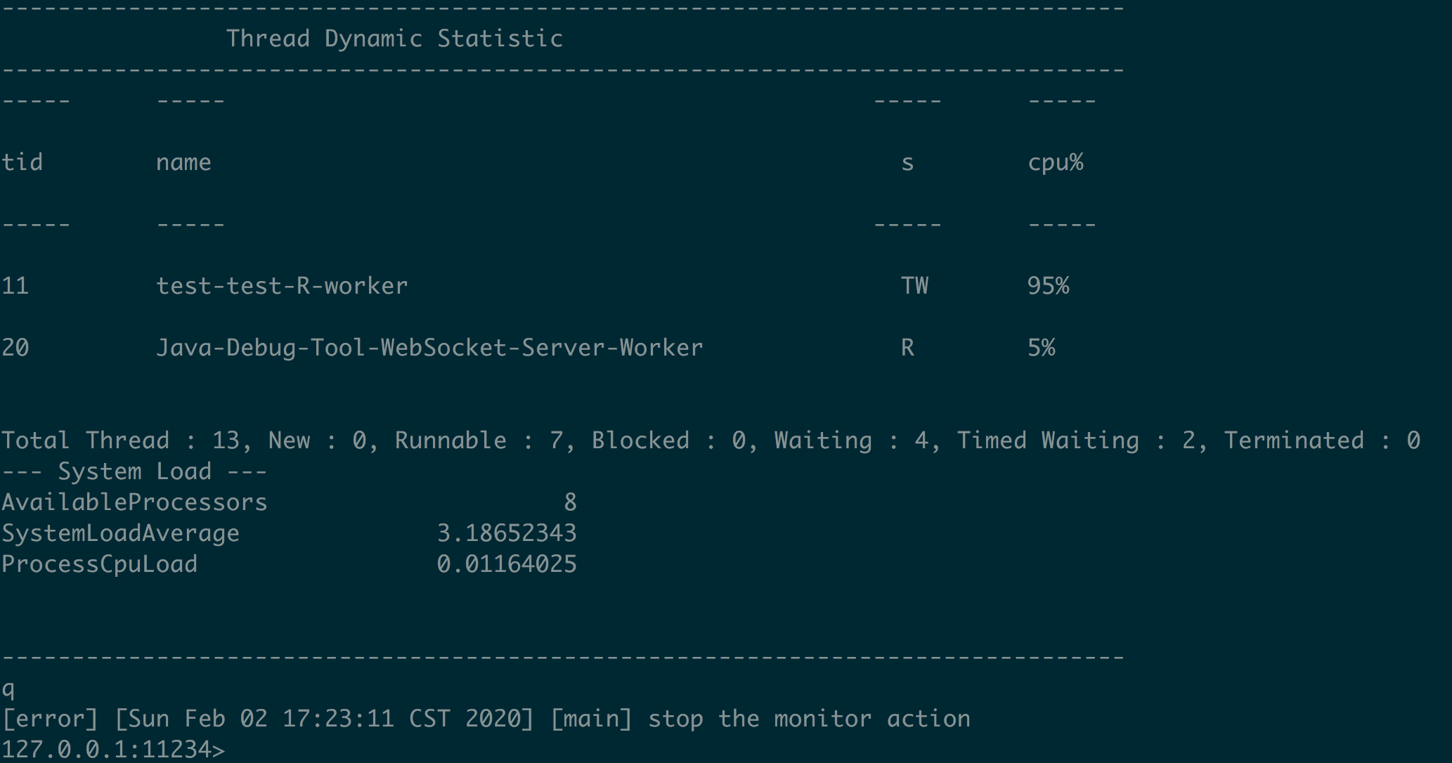 monitor command