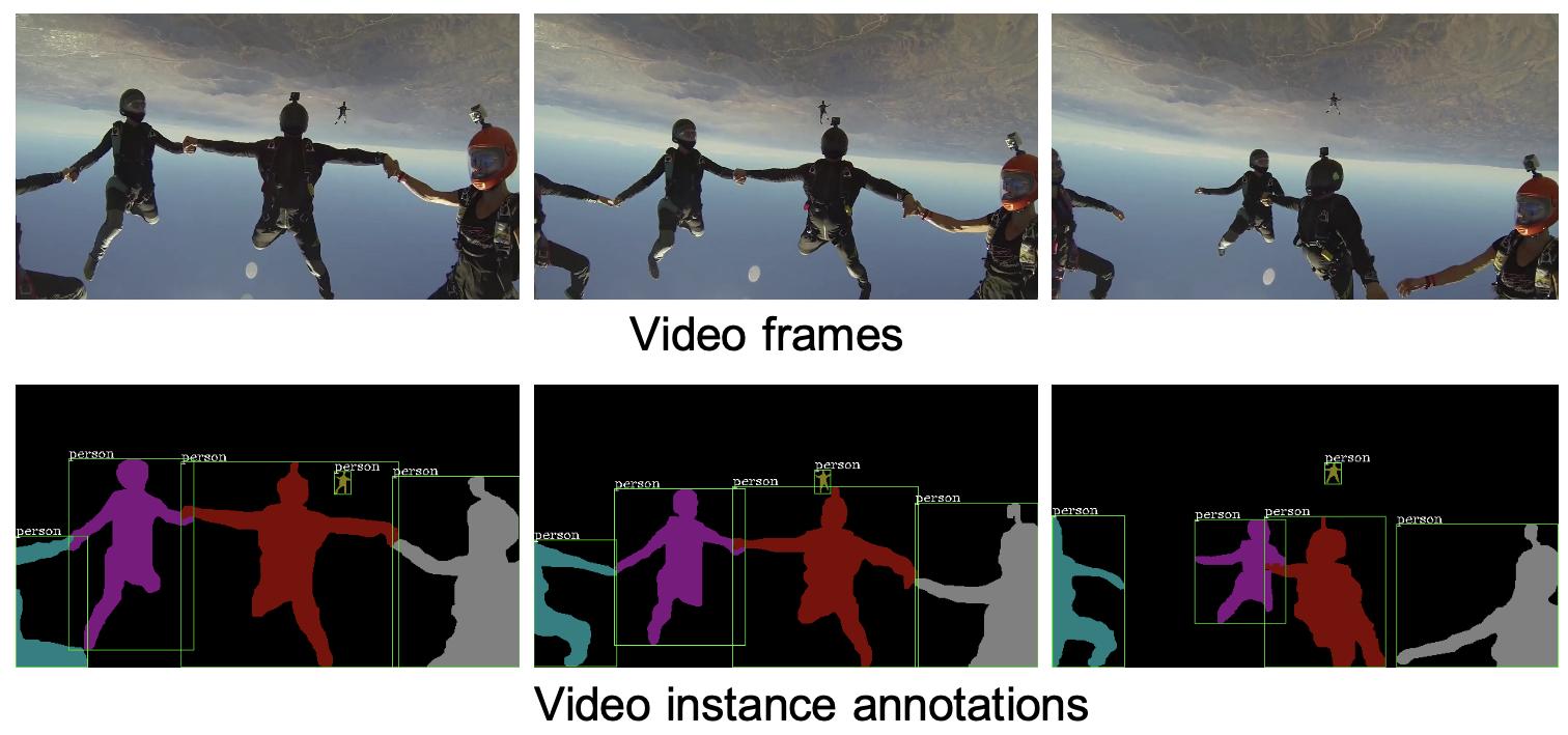 图1 视频实例分割任务示意