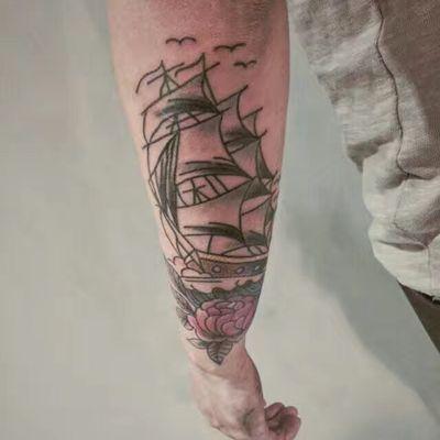 花臂拼接纹身图