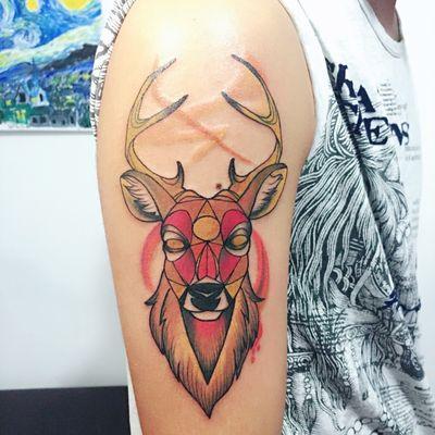 鹿纹身款式图